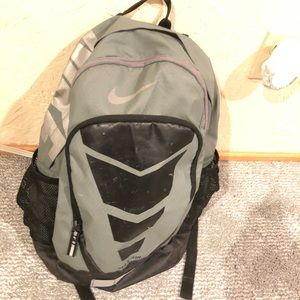 Nike backpack used, paint fading in front, working